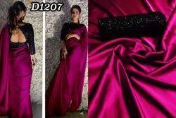 Fancy Satin Silk Indian Wear Saree
