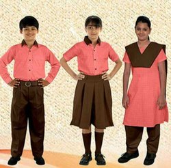 Cotton Red Government School Uniform