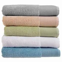 Multicolor Plain COTTON TOWELS, Rectangle,Square, 450-550 GSM
