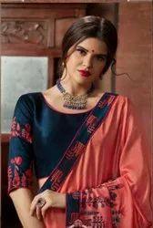 Kessi Akshara Vol-2 Fancy Work Saree Catalog Collection