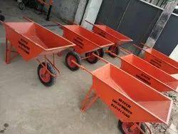 Double Tyre Concrete Wheelbarrow