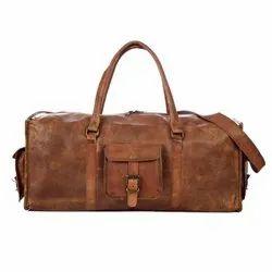 Unisex Brown Leather Handmade Vintage Classic bag