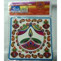 10 Inch Transparent Rangoli Sticker
