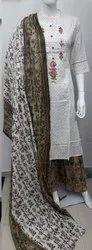 Cotton Stitched Ladies Party Wear Palazzo Suit, Handwash