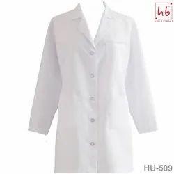 HU-509 Knee Length Lab Coat, For Hospital, Handwash