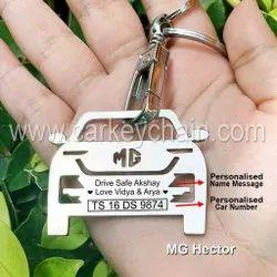 Mg Hector Car Custom Keychain Car Name Number Personalised Custom Keychain