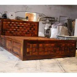 Wood King Size Jodhpur Style Bed, With Storage