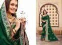 Kalista Fashions Shehnai Vichitra Silk With Swarovski Work Rich Look Saree