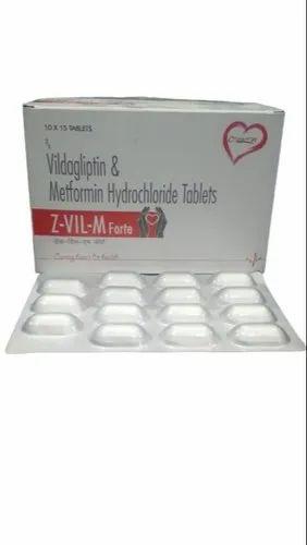 Vildagliptin 50mg , Metformin 1000 mg