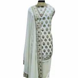 Cotton Unstitched Salwar Suit, Handwash
