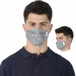 Carriall Adult Unisex 3 Layer Reusable Grey Face Mask With Nose Pin (Pack Of 3)