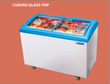 182 Litre Curved Glass Top Deep Freezer