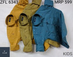 Full Sleeves Regular Fit ZFL 6343 Kids Printed Shirts