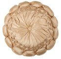 Designer Shiney Satin Cream Colored Cushion Cover