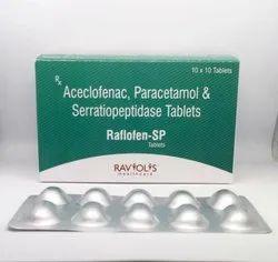 Aceclofenac, Paracetamol and Serratiopeptidase Tablets