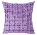 Designer Lilac Purple Handcrafted Square Cushion Cover