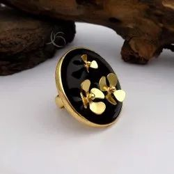 Gold Plated Flower Designed Ring Fashion Ring Beautiful Ring Casual Wear Ring