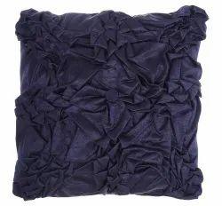 Midnight Blue Designer Handmade Satin Cushion Cover
