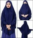 Stitched Jersey Cotton Islamic Chaderi Hijab With Veil And Sleeves