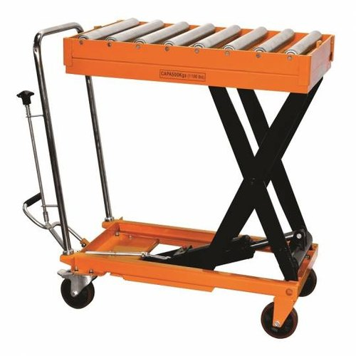 MS Hydraulic Scissor Table With Roller Top
