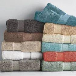 Multicolor Plain Bath Towels, Terry Towels, Terry Towel Set, Rectangle, Square, 450-550 GSM