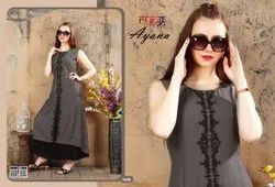 Ayana Long Designer Kurtis With Fancy Embroidery Work And All Heavy Fabric Kurtis