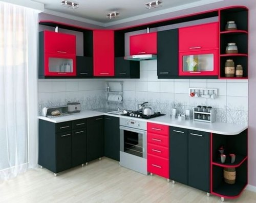 Red Black Modular Kitchen Cabinets Designing Services Cabinet Service Contemporary Modern Kitchens Furniture In Near Phaphamau Allahabad Wedding Id 22557138788