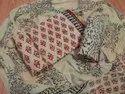 Hand Block Printed Cotton Unstitched Women Suits