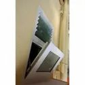 White Upvc Top Hung Window, Glass Thickness: 5 Mm