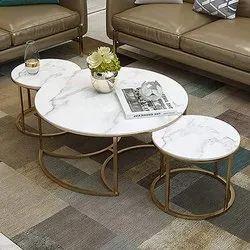 Gaur Steeel Rose Gold,Gold SS Center Table