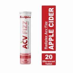 Apple Cider Vinegar Effervescent Tabs, Bottles, Packaging Size: 20