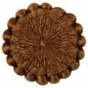 Designer Brown Stuffed Satin Cushion Cover
