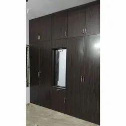 E-Tech Aluminum Brown Aluminium Wardrobe, For Home