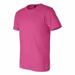 Women Pink Round Neck T Shirt