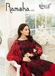 Rinaz Fashion Ramsha Vol-2 Pakistani Style Salwar Suits Catalog