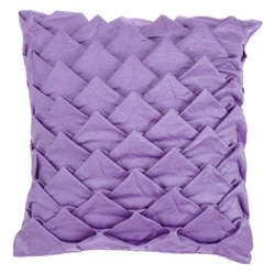 Lilac purple handcrafted square cushion cover