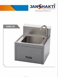 Knee Operated Hand Wash Sink Unit - Wall Mounted