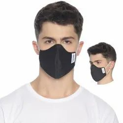 Carriall Adult Unisex 3 Layer Reusable Black Face Mask (Pack Of 3)