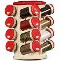Plastic Spice Rack 16 in 1, Multicolor