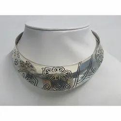 Brass Silver Fashion Woman Choker Necklace, Box