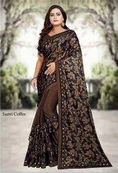 Diseno Party Wear Pure Mysore Silk Saree, With Blouse Piece, 5.5 m (Separate Blouse Piece)