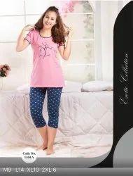 Jumpers & Rompers Printed Ladies Casual Night Wear