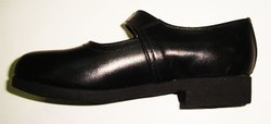 Black School Girls Belly Shoes Made In Genuine Leather, EVA