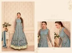 Mkc Semi Stitched Gown For Women