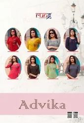 Ladies Party Wear Rayon Long Top
