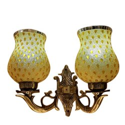 Warm White Glass 10W Designer Double Wall Lamp