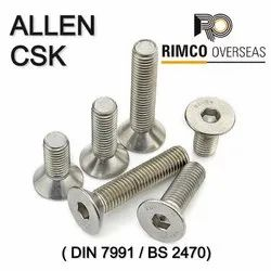 Stainless Steel Allen CSK Screw