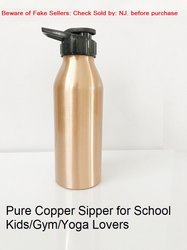 Copper Water Bottle Sipper