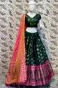 Greenish Printed Lehenga Choli With Dupatta