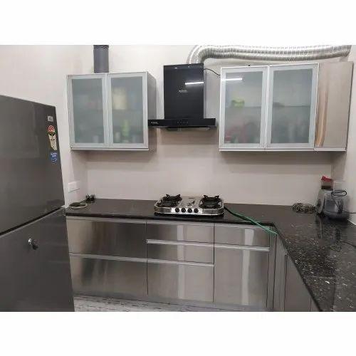 Modern L Shape Stainless Steel Modular Kitchen